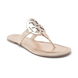 Tory Burch Miller Sandals in Rose Gold Size 8/9/10